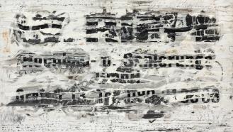 Mixed Media on Canvas, 110x290cm, 2013