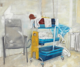 Besenkammer im Krankenhaus, Mixed Media on Canvas, 200x290cm, 2012
