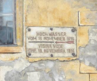 Hochwasserstand, Mixed Media on Canvas, 200x290cm, 2012