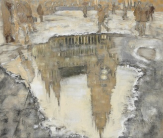 Münchner Rathaus, Mixed Media on Canvas, 200x290cm, 2012