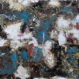 Mixed Media on Canvas, 200x320cm, 2013