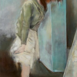 """""""Maler Mihajlovic, Sie sind als guter Aktzeichner empfohlen worden, ich bin entsetzt!"""", Mixed Media on Canvas, 210x120cm, 2012"""