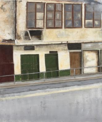 Ein Haus in Sarajevo, Mixed Media on Canvas, 290x200cm, 2012