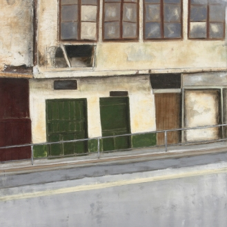 Ein Haus in Sarajevo, Mixed Media on Canvas, 290x200cm, 2012