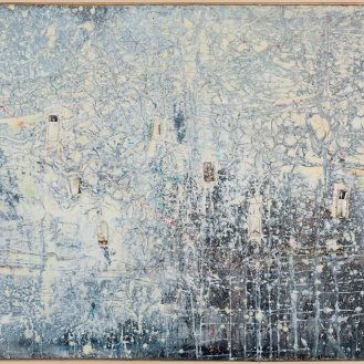 Mixed Media on Canvas, 109x264cm, 2015