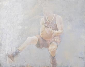 'Vladimir Lučić Serbia FCBB München', Mixed Media on Canvas, 115x145cm, 2018