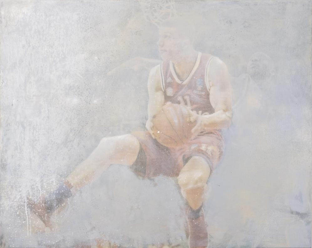 Vladimir Lučić Serbia FCBB München, Mixed Media on Canvas, 115x145cm, 2018