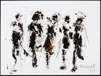 'Carnivalesque II', Mixed Media on mdf panel, 90x120cm, 2018