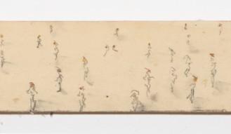 mixed media on canvas, 11x216cm, 2020